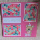 """""""Party Animal Wee Bear""""-Premade Scrapbook Page 12x12"""