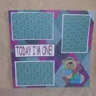 """Today I'm One""-Premade Scrapbook Page 12x12"