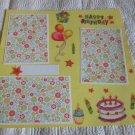 """Happy Birthday Cake st""-Premade Scrapbook Page 12x12"