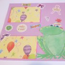 """""""Make A Wish Frog st""""-Premade Scrapbook Page 12x12"""