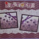 """Party Time a1""-Premade Scrapbook Page 12x12"