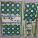 """100% Boy nw""-Premade Scrapbook Page 12x12"