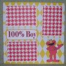 """100% Boy ss""-Premade Scrapbook Page 12x12"