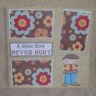 """""""A Little Dirt Boy""""-Premade Scrapbook Page 12x12"""