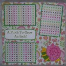 """A Pinch To Grow An Inch Boy""-Premade Scrapbook Page 12x12"