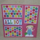 """All Boy Slingshot""-Premade Scrapbook Page 12x12"