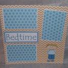 """Bedtime Boy 1""-Premade Scrapbook Page 12x12"