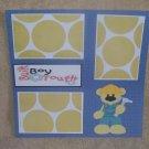 """Built Boy Tough""-Premade Scrapbook Page 12x12"