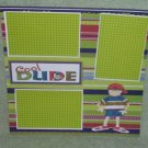 """""""Cool Dude nw""""-Premade Scrapbook Page 12x12"""