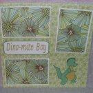 """""""Dinomite Boy 2""""-Premade Scrapbook Page 12x12"""