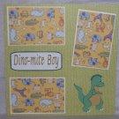 """""""Dinomite Boy""""-Premade Scrapbook Page 12x12"""