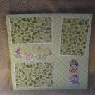 """""""Hanging Out Boy""""-Premade Scrapbook Page 12x12"""