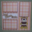 """Just Plane Cute""-Premade Scrapbook Page 12x12"
