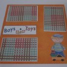 """Boys and Their Toys a""-Premade Scrapbook Page 12x12"