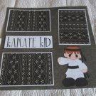 """""""Karate Kid Boy""""-Premade Scrapbook Page 12x12"""
