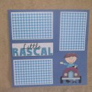 """Little Rascal Boy Car""-Premade Scrapbook Page 12x12"