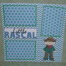 """Little Rascal Boy""-Premade Scrapbook Page 12x12"