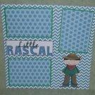 """Little Rascal Boy""-Premade Scrapbook Page 12x12"
