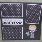 """Magic Show Boy""-Premade Scrapbook Page 12x12"