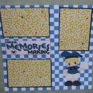 """Magical Memories Boy""-Premade Scrapbook Page 12x12"