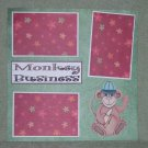 """Monkey Buisness Boy""-Premade Scrapbook Page 12x12"