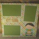 """Potty Training Boy 2""-Premade Scrapbook Page 12x12"
