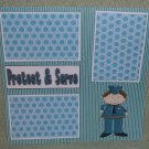 """""""Protect and Serve Boy""""-Premade Scrapbook Page 12x12"""