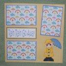 """Rain Rain Go Away Boy""-Premade Scrapbook Page 12x12"