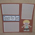 """""""Ready For Bed Boy""""-Premade Scrapbook Page 12x12"""