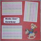 """""""Ride Em Cowboy""""-Premade Scrapbook Page 12x12"""