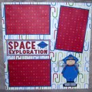 """Space Exploration Boy""-Premade Scrapbook Page 12x12"