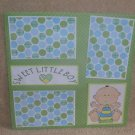 """Sweet Little Boy bl""-Premade Scrapbook Page 12x12"