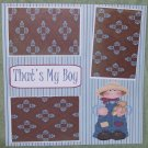 """That's My Boy Country""-Premade Scrapbook Page 12x12"