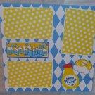 """Bathtime Baby Shampoo""-Premade Scrapbook Page 12x12"