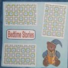 """Bedtime Stories""-Premade Scrapbook Page 12x12"