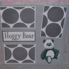"""Huggy Bear nw""-Premade Scrapbook Page 12x12"