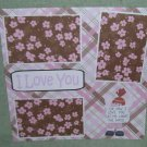 """I Love You Angel""-Premade Scrapbook Page 12x12"