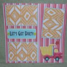 """""""Let's Get Dirty nw""""-Premade Scrapbook Page 12x12"""