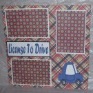 """License To Drive Blue""-Premade Scrapbook Page 12x12"