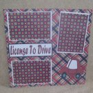 """""""License To Drive Red""""-Premade Scrapbook Page 12x12"""