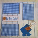 """Me Want Cookie ss 2a""-Premade Scrapbook Page 12x12"