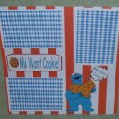 """Me Want Cookie ss""-Premade Scrapbook Page 12x12"