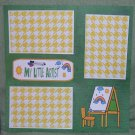 """My Little Artist Easel""-Premade Scrapbook Page 12x12"