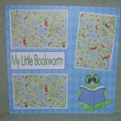 """My Little Bookworm""-Premade Scrapbook Page 12x12"