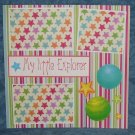 """My Little Explorer""-Premade Scrapbook Page 12x12"