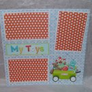 """""""My Toys nw""""-Premade Scrapbook Page 12x12"""