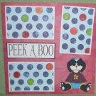"""Peek A Boo Panda""-Premade Scrapbook Page 12x12"