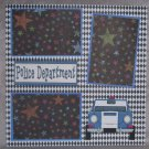 """Police Department""-Premade Scrapbook Page 12x12"