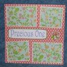"""Precious One""-Premade Scrapbook Page 12x12"