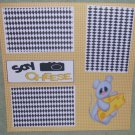 """""""Say Cheese Mouse""""-Premade Scrapbook Page 12x12"""